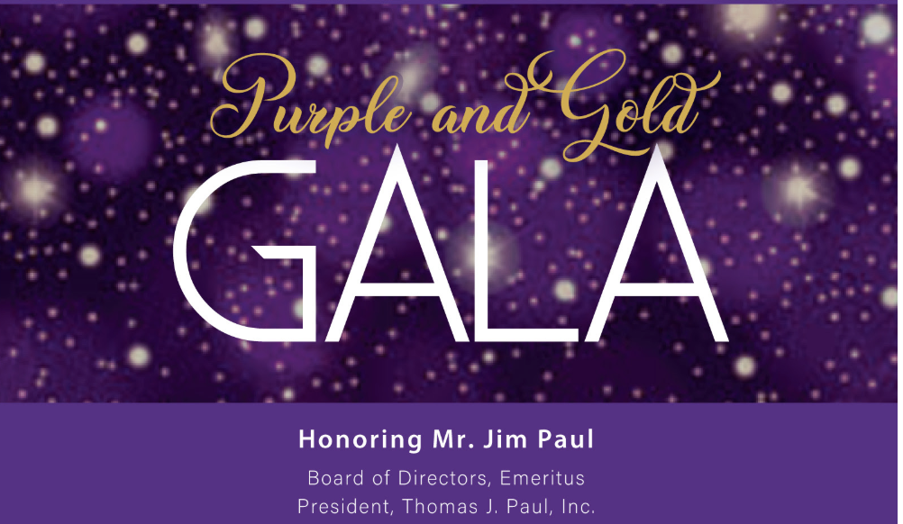 Join Us for the Purple & Gold Gala: March 7, 2020
