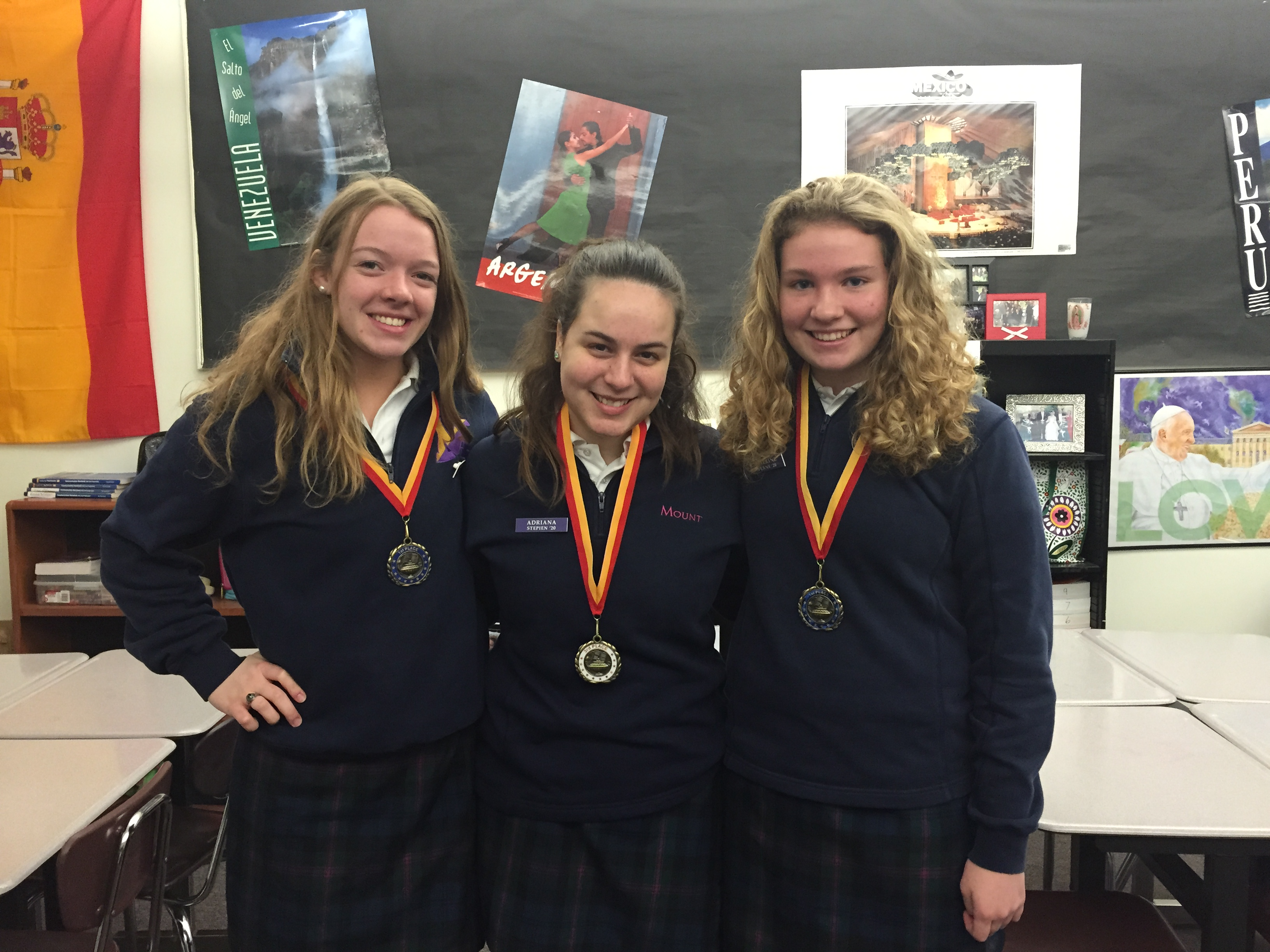 Three Mount Students Place in Foreign Language Contest