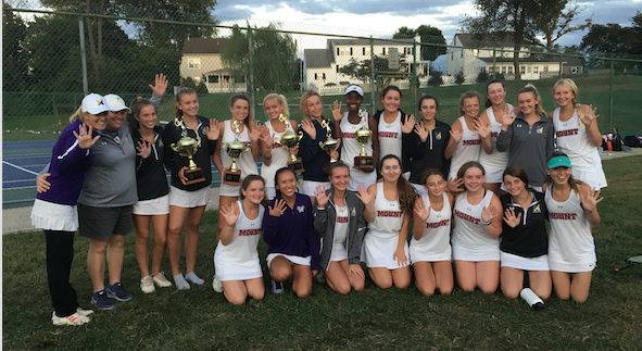 Tennis Team Wins 5th Consecutive AACA Championship