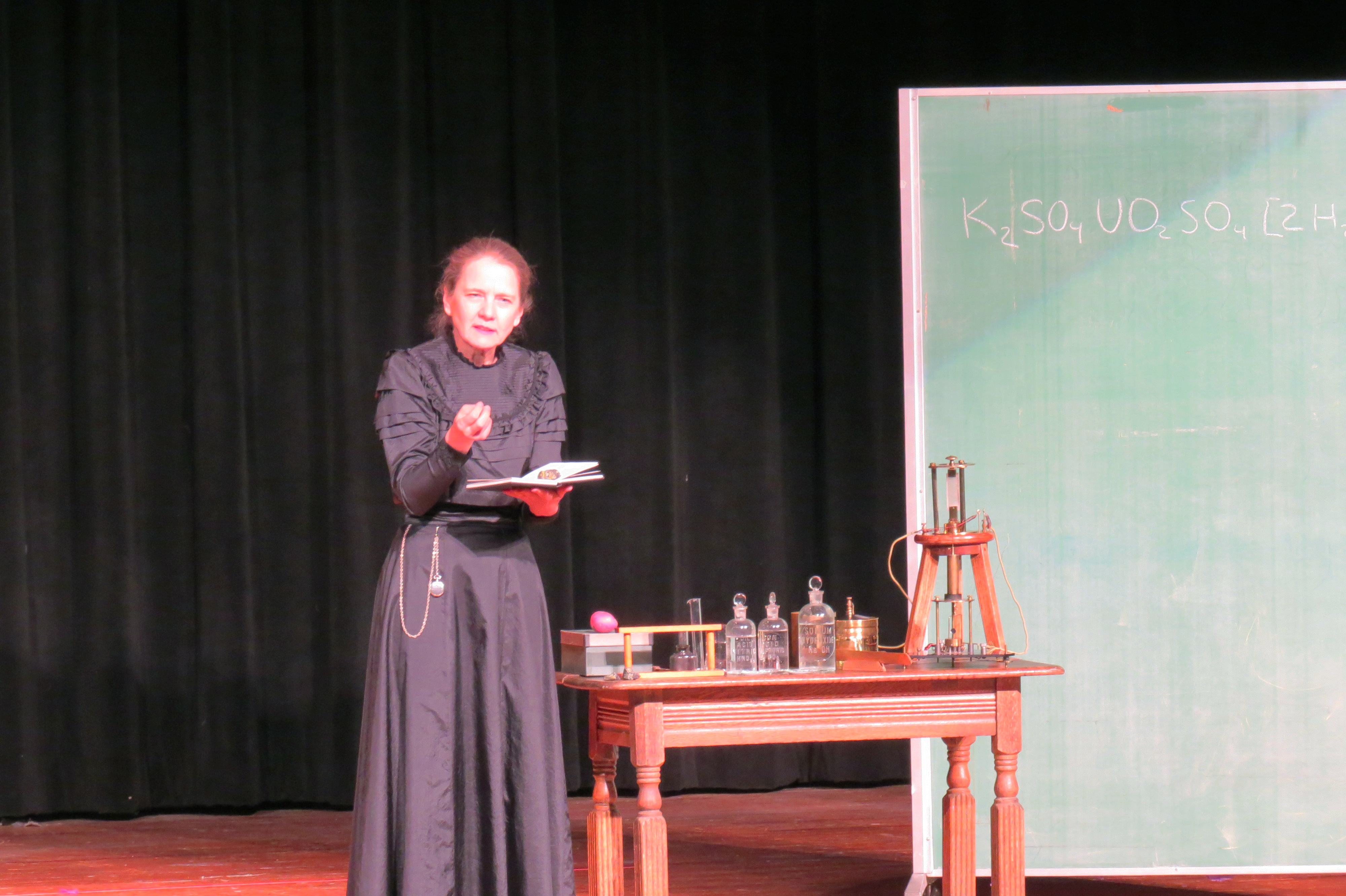 Mount Hosts One-Woman Performance of the Life of Marie Curie